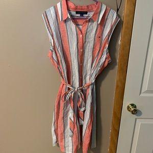 Tommy Hilfiger Vertical Stripe Style Dress-size 16